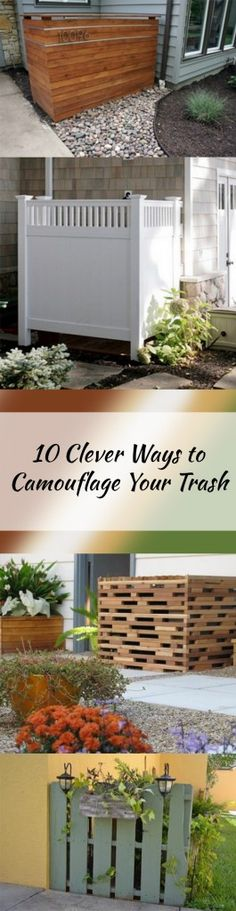 10 Clever Ways to Camouflage Your Trash Cans