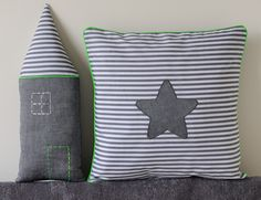 Coussins fluo touch cushions | love this cute and simple house pillow!