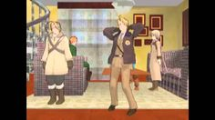 MMD Hetalia Funny Buisness. This thing made my day. Russia dancing in the end was just so KAWAIII!!!!!!!