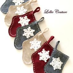 GIFT CARD Stockings Mini Christmas stocking by ModernStyleHoliday