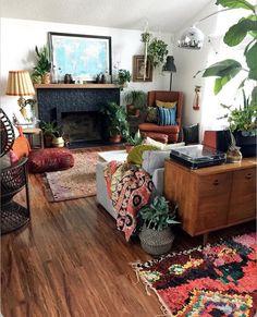 50 Bohemian Living Room Decoration Ideas - Home & Garden Interior Exterior, Home Interior, Interior Design, Living Room Furniture, Living Room Decor, Modern Furniture, Bench Furniture, Furniture Storage, Cheap Furniture
