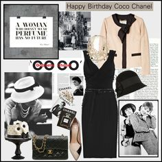Happy Birthday Coco Chanel, created by emilymiller on Polyvore