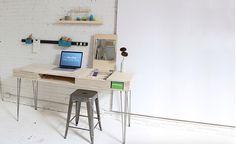 Eine sehr detaillierte Anleitung um einen Designer-Schreibtisch selber zu bauen. #diy #doityourself #schreibtisch