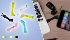 Key Chain Charger Keep a charger at the ready with the Key Chain Charger      Available in black, white, blue, yellow, green or pink      Compatible with the latest Apple devices      A compact and portable novelty gadget      Features a micro USB output      A great alternative to traditional charging wires      Easy to carry and clip onto your keychain collection      Save 75% with the Key Chain Charger for 3.99 pound instead of 16.19 pound BUY NOW for just GBP3.99