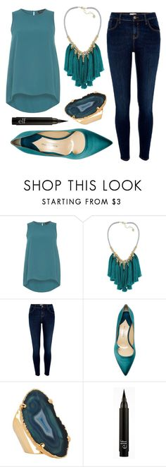 """Untitled #138"" by volleygirl052 on Polyvore featuring Dorothy Perkins, French Connection, River Island, Paul Andrew and Valerie Nahmani Designs"