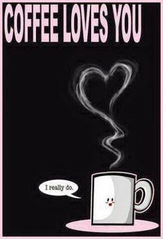 ☕️COFFEE ☕️loves you! Yay, I'm so glad cuz I love coffee too! Coffee Talk, Coffee Is Life, I Love Coffee, Coffee Break, My Coffee, Coffee Drinks, Morning Coffee, Coffee Cups, Coffee Lovers
