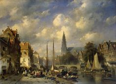 Urban Landscape (1856)  by Charles Henri Joseph Leickert.  Oil on canvas, 87 x 119 cm. The Hermitage, St. Petersburg