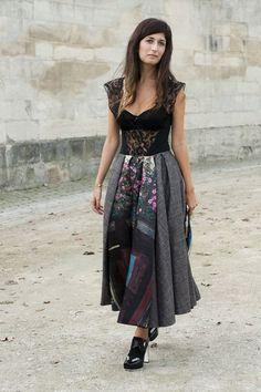 A Sweet-Cum-Sexy Mixed Media Dress