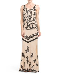 Abigail+Scoop+Neck+Fitted+Gown