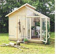 Plus A/S - Design til haven  Redskabsrum og drivhus!