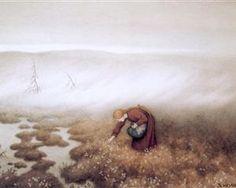 Prinsessen Som Sanker Myrull (The Princess Gathering Cotton Grass) by Theodor Kittelsen Most Popular Artists, Great Artists, Art And Illustration, August Sander, Albert Bierstadt, Scandinavian Art, Inspiration Art, Alphonse Mucha, Costumes