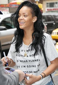 With makeup rihanna no