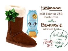BEARPW Marissa Boot + mimoco 8GB Fairybit USB Flash Drive