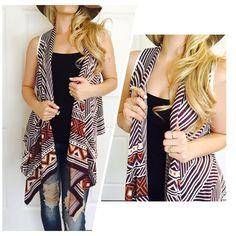 Sleeveless Tribal Cardigan In LOVE with this Plum Cardigan! This material is very Soft & Heavy to keep you in Warm! Very Stylish and Couture. Great Quality of course ❤️ 60% Cotton 40% Polyester Available in sizes S M L ***PLEASE DO NOT PURCHASE THIS LISTING*** MESSAGE BELOW WITH YOUR SIZE AND I WILL MAKE A PERSONAL LISTING FOR YOU ASAP!! If you have any questions, please feel free to ask  #PoshOnLadies! Bohemian Sea Sweaters Cardigans