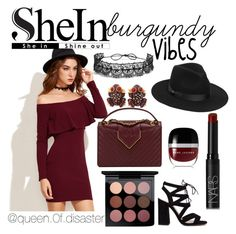 """SheIn Burgundy Vibes Contest"" by paulinka93 on Polyvore featuring Marc Jacobs, Chanel, Lack of Color, Fallon, NARS Cosmetics and Gerard Yosca"