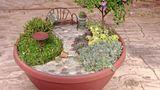 How to Make a Miniature Fairy Garden Patio tutorial & stuff to buy