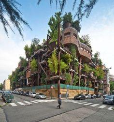 Prédio sustentável que usa 150 árvores para proteger seus moradores da poluição - Itália - Luciano Pia