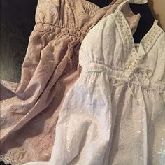 Purchased in Italy Tops - Eyelet cotton camisoles w/ adjustable straps.