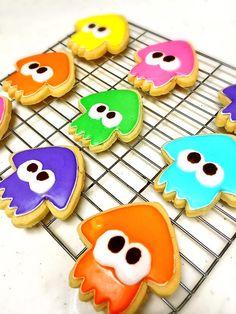 Cute homemade Splatoon cookies~