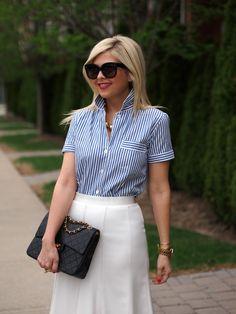 Suburban Faux-Pas: White Pencil Skirt