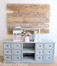 Great diy Favorite site. SWEET PICKINS FURNITURE...redo dresser into console.  Love how nice it looks and gives me ideas of what things can turn out to be!