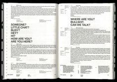 Dark Side of Typography V Magazine, Emigre Magazine, Magazine Design, Magazine Layouts, Text Layout, Poster Layout, Print Layout, Book Design Layout, Graphic Design Layouts