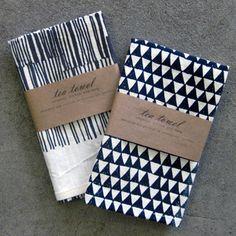 Original drawings by textile artist Arounna Khounnoraj printed on tea towels from Task NY