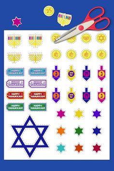 Printable Nick Jr. Hanukkah Stickers