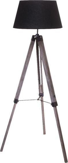 Reclaimed Wood Tripod Floor Lamp