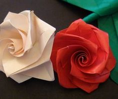 Instructable on making an origami rose bouquet. Flowers.