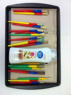 Make your paintbrushes last longer by washing them with conditioner.