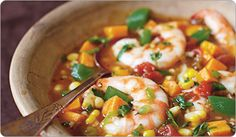 High Fiber Sweet Potato & Shrimp Chowder Recipe