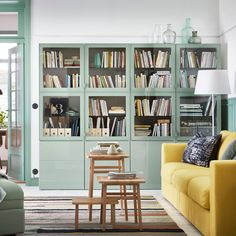 8 Small-Space Living Room Layout Ideas We're Stealing from IKEA – Living Room Inspiration – Living Room Ideas Small Living Room Layout, Small Space Living Room, Ikea Living Room, Small Apartment Living, Living Room Furniture Layout, Living Room Storage, Living Room Designs, Apartment Furniture, Apartment Couch