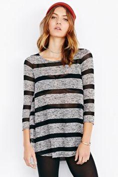 7ffcc2b70f9c Silence + Noise Lysa Long-Sleeve Tee Shirt - Urban Outfitters