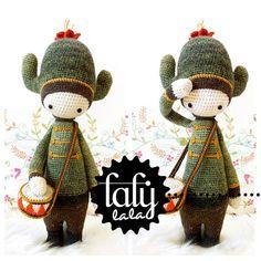 Crochet Pattern Doll CARL the cactus PDF by lalylala on Etsy, €5.50