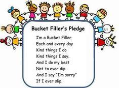 """Bucket Filling Activities. LOVE this """"Bucket Filler's Pledge"""". Classroom Behavior, Preschool Classroom, Classroom Management, Behavior Management, Preschool Songs, Class Management, Classroom Ideas, Preschool Behavior, Kindergarten Fun"""