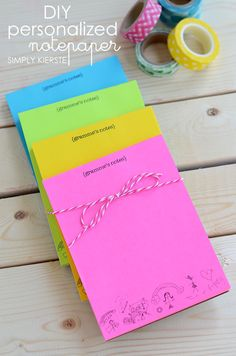 DIY personalized notepaper
