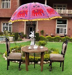 Indischer Elefant unter freiem Himmel Design Sun Parasol Garden Dekorative Regenschirm
