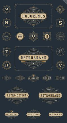 25 luxury ornaments logos & monogram by Vasya Kobelev on Creative Market