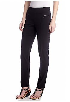 New Directions® Zipper Detail Pant