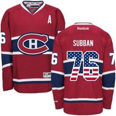 canadiens  76 p.k subban red american flag jersey Nhl Jerseys 99a76afe1