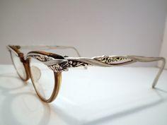 50s Cat Eye Glasses Art Deco Frames by theARTfulBlackBird on Etsy, $72.00