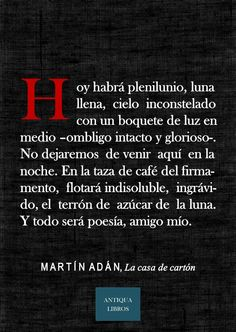 De: La casa de cartón, Martín Adán. Literatura Peruana