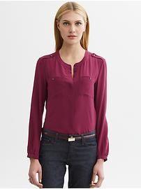 Women's Apparel: new arrivals   Banana Republic. Heritage silk military shirt_79.50