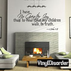 Wall Decal for Kids Room No Greater Joy