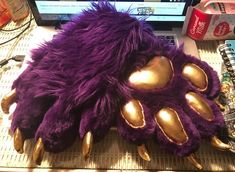 Fursuit Paws, Toe Beans, Hyena, Beautiful Creatures, Ears, Character Design, Sparkle, Costumes