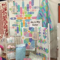 """Quilt Market booth is almost finished!! New quilt patterns and """"Grow"""" fabrics!!#meandmysisterdesigns #showmethemoda #quiltmarket"""