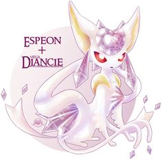 Crystalline (Espeon + Mega Diancie Fusion) by JewelpetPrincess on DeviantArt Pokemon Fusion, Cute Pokemon, Pokemon Go, Pokemon People, Pokemon Pins, Pokemon Stuff, Pikachu, Fantasy Creatures, Mythical Creatures