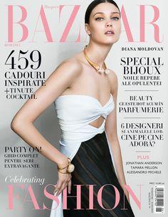 Harper's Bazaar Romania November 2015 – Diana Moldovan by Dan Beleiu