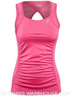 Head Women's Line It Up Tennis Tank in Pink